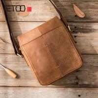 AETOO 2018 new handmade men's shoulder bag casual Messenger bag leather men's bag matte leather summer retro shoulder bag