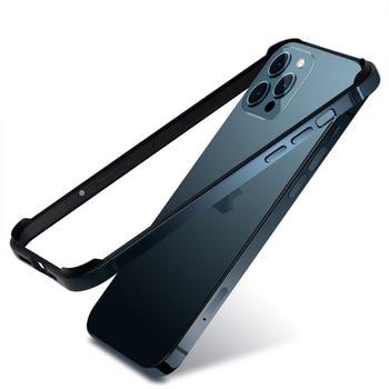 Bumper Case For iPhone 12 Mini 11 Pro Max 12Pro 11Pro XR X XS Luxury Aluminum Metal Silicone Phone Frame Blue Black Accessories 1