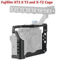 CNC alüminyum DSLR kamera kafesi Fujifilm XT3 X T3 ve X T2 kamera kolu kavrama kafes aksesuarları VS TILTA SmallRig