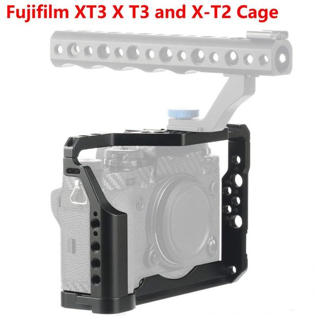 Cncアルミデジタル一眼レフケージ富士フイルムXT3 × T3とX T2カメラハンドルグリップケージアクセサリーvs tilta smallrig