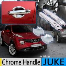 Для Nissan JUKE 2010- класса «Люкс» хромированные покрытия для дверных ручек Infiniti эсквайр 2011 2012 2013 автомобильные аксессуары наклейки стайлинга автомобилей