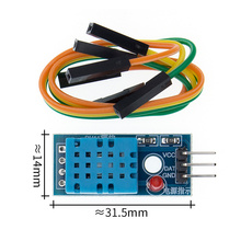 TENSTAR ROBOTER 100PCS Einzigen Bus DHT11 Digitale Temperatur und Feuchtigkeit Sensor DHT11 Sonde