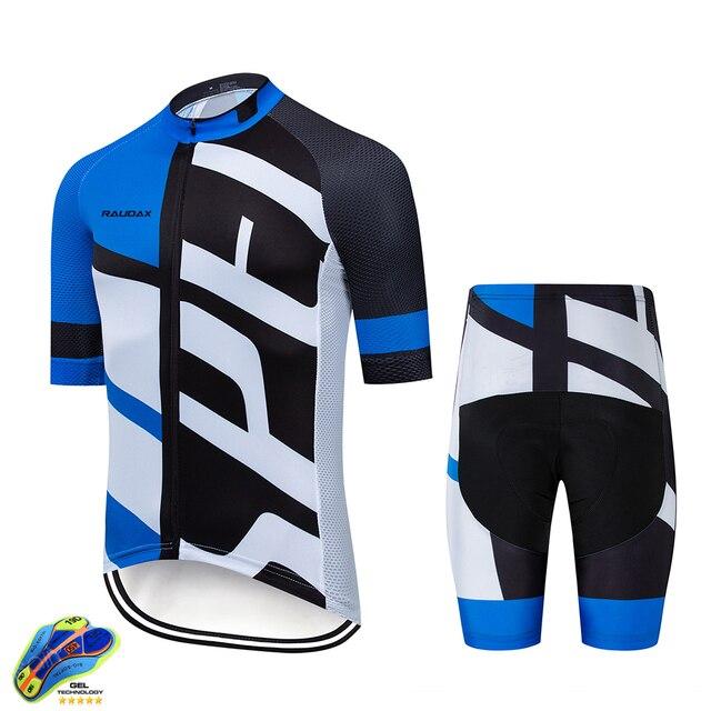 Terno de ciclismo masculino, camiseta de manga curta para mtb, com moletom, respirável, para o verão, roupa de ciclismo 19d, novo, 2020 5