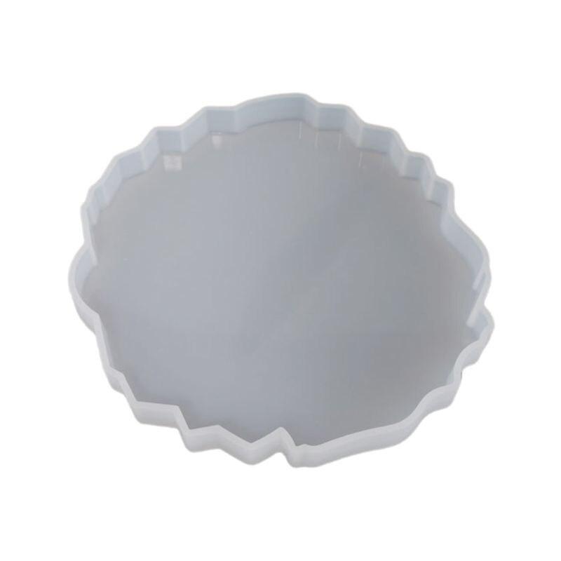 2021 новый силиконовый чехол с украшением в виде кристаллов эпоксидная смола, форма нерегулярные волна подстаканник коврик литейной формы ре...