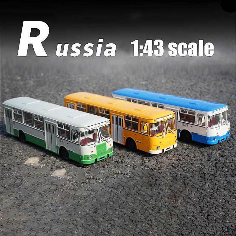 1:43 Alloy Bus SSM LIAZ 677m Bus Simulation Metal Sliding Toy High Quality Car Model Birthday Gifts Toys For Kids Children Boy