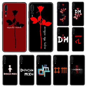 Band Depeches Phone case For Huawei P 8 10 20 30 Smart Plus 2019 Z Lite Pro 2017 2019 black luxury prime 3D back fashion image