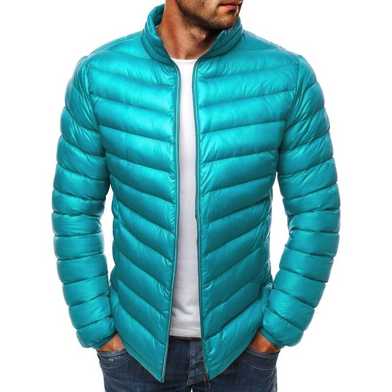 de algodão, casaco casual, com zíper, slim, casaco parka