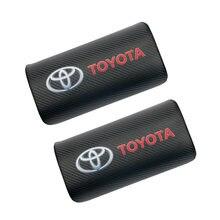 2 шт углеродного волокна значок автомобиля подголовник подушка