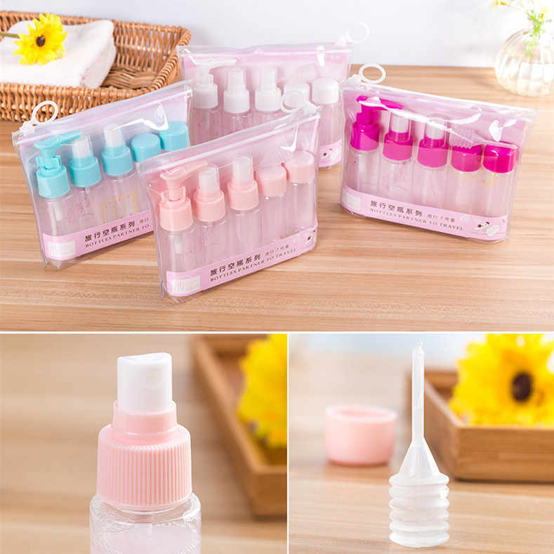 1 Set Portable Spray Hervulbare Flessen Kit Plastic Gezichtscrème Lotion Make Container Home Reizen Lege Spray Refill Flessen