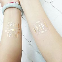 12pc Bridesmaid Team Temporary Tattoo Sticker Decoration Marriage Bride To Be Bridal Body Art Glitter Tattoo Decals B1