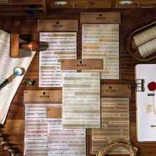 Mohamm-pegatinas de serie de letras de amor, decoración de papel de álbum de recortes, suministros creativos de colegio estacionario tela, 10 Uds.