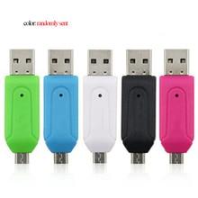 1pc 2 in 1 Universal Micro USB TF SD Card Reader Adapter% 2C USB 2.0 OTG Memory Card Reader для ПК Телефон Компьютер Ноутбук
