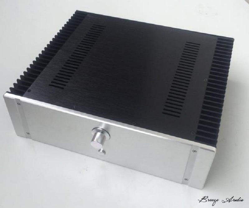 BRZHIFI BZ4313 double radiator aluminum case for class A power amplifier