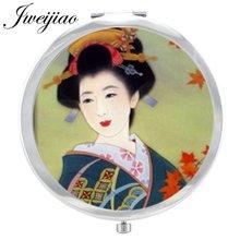 Японское женское зеркало youhaken с кабошоном портативное карманное