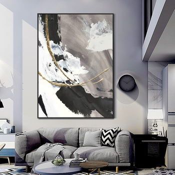 Wall paintings Hand painted Modern Abstract canvas Oil Paintings home Decoration  Abstract Oil Painting wall picture Living Room 2020 christmas gift modern paintings abstract gold oil painting 100% hand painted on canvas for living room decoration wall art