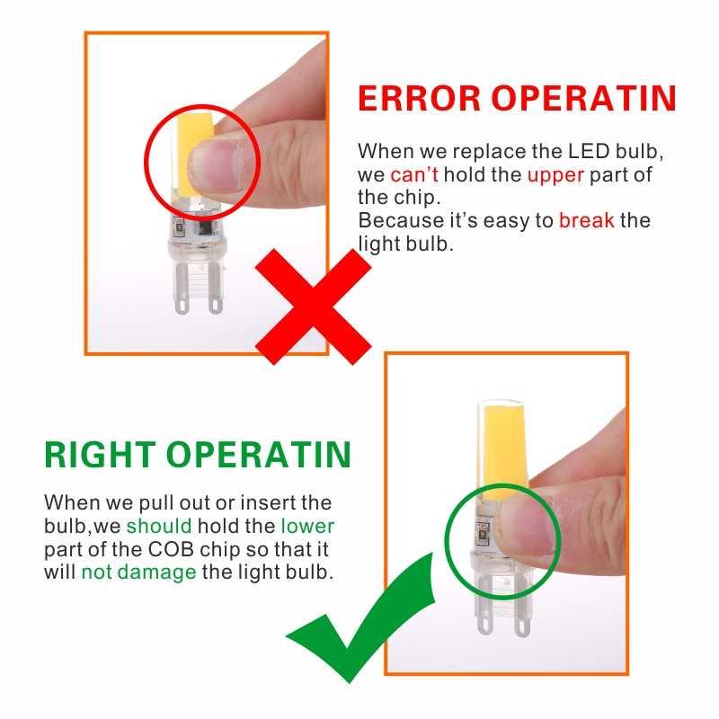 LARZI LED G4 G9 E14 ampoule ca/cc gradation 12V 220V 3W 6W 9W COB SMD LED lumières d'éclairage remplacer halogène projecteur lustre