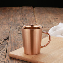 Copper plated cup 304 stainless steel double layer mug coffee cocktail glass beer