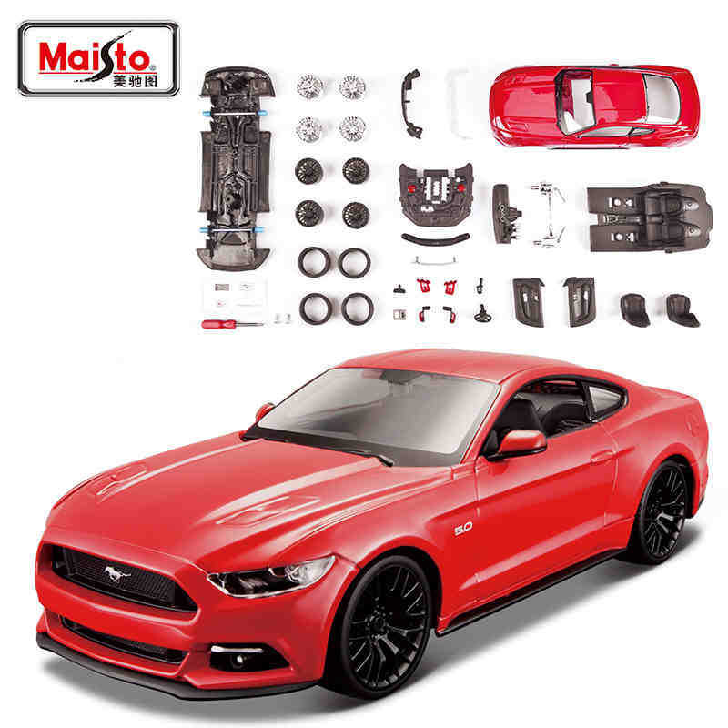 1/24 <font><b>Ford</b></font> <font><b>Mustang</b></font> Muscle Car Alloy Diecast Model Assembled Model Cars Child Toy Mini Car Collection Toys Miniature Cars Metal image