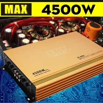 4 Channel 4500w High Power Car Amplifier Stereo Surround Sound Fidelity Aluminum Alloy Subwoofer Car Audio Amplifiers