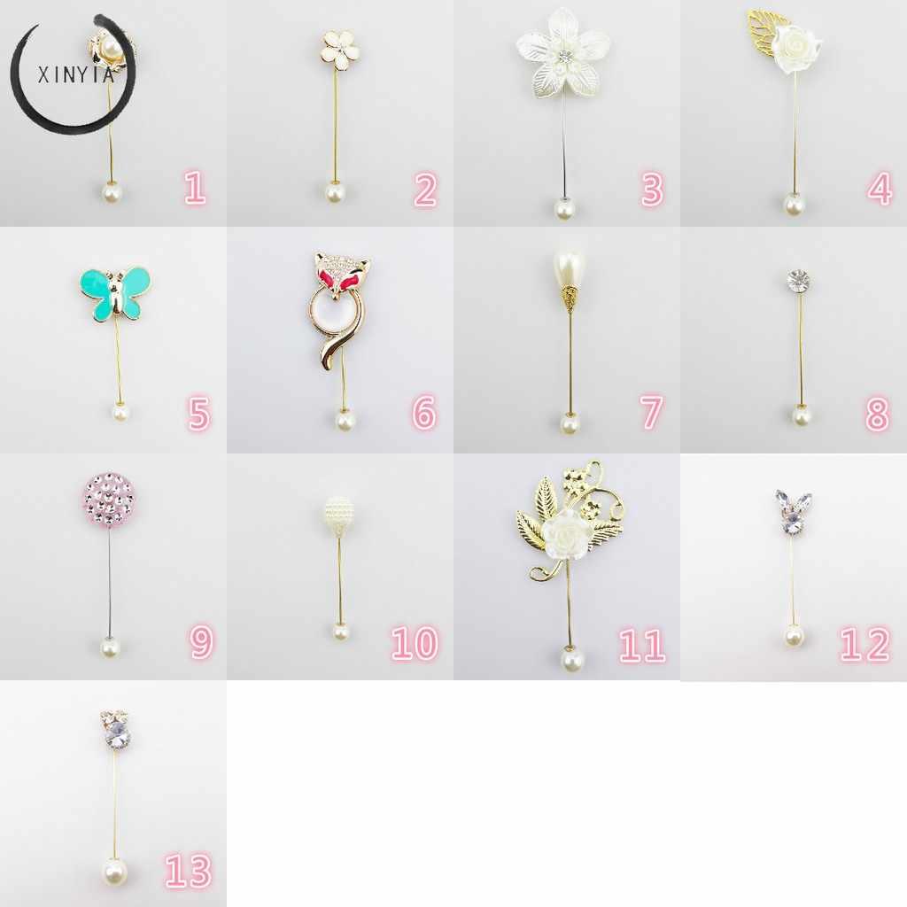 Klasik Imitasi Mutiara Bunga Bros Tanaman dan Hewan Pin Bros untuk Wanita Pernikahan Gaun Lencana Aksesoris Perhiasan