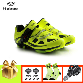 Tiebao cycling shoes mtb men women sapatilha ciclismo mountain bike sneakers self-locking breathable  SPD mtb riding bike shoes