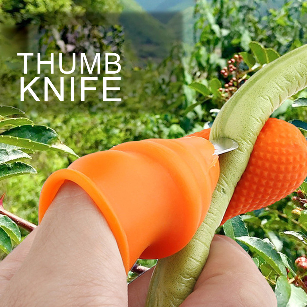 Silicone Thumb Cutter Separator Finger Tools Picking Device For Garden Harvesting Plant Gardening