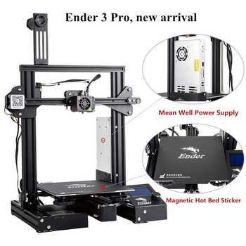 3D Ender-3 Pro 3D Drucker Verbesserte Magnetische Bauen Platte Lebenslauf Stromausfall Druck DIY KIT Mean Well Netzteil