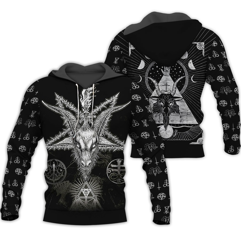 PLstar Cosmos Viking Tattoo 3D All Over Printed Shirts 3D Print Hoodie/Sweatshirt/Zipper Man Women Satan Tattoo