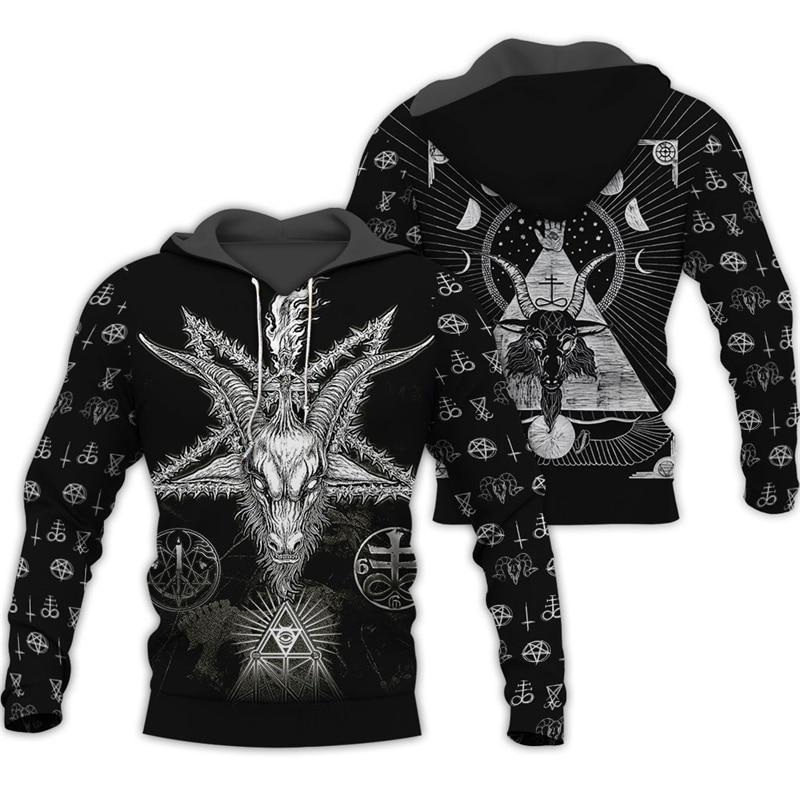 PLstar Cosmos Viking Tattoo 3D All Over Printed Shirts 3D Print Hoodie/Sweatshirt/Zipper Man Women Satan Tattoo