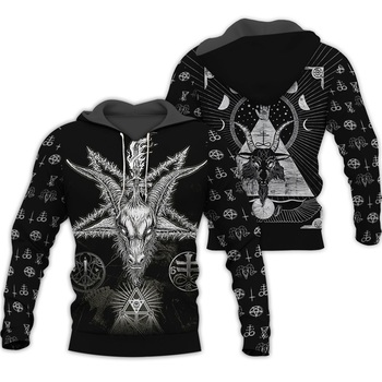 PLstar universo vikingo tatuaje 3D todo impreso camisas 3D impresión Sudadera con capucha/sudadera/cremallera hombre mujeres tatuaje Satán