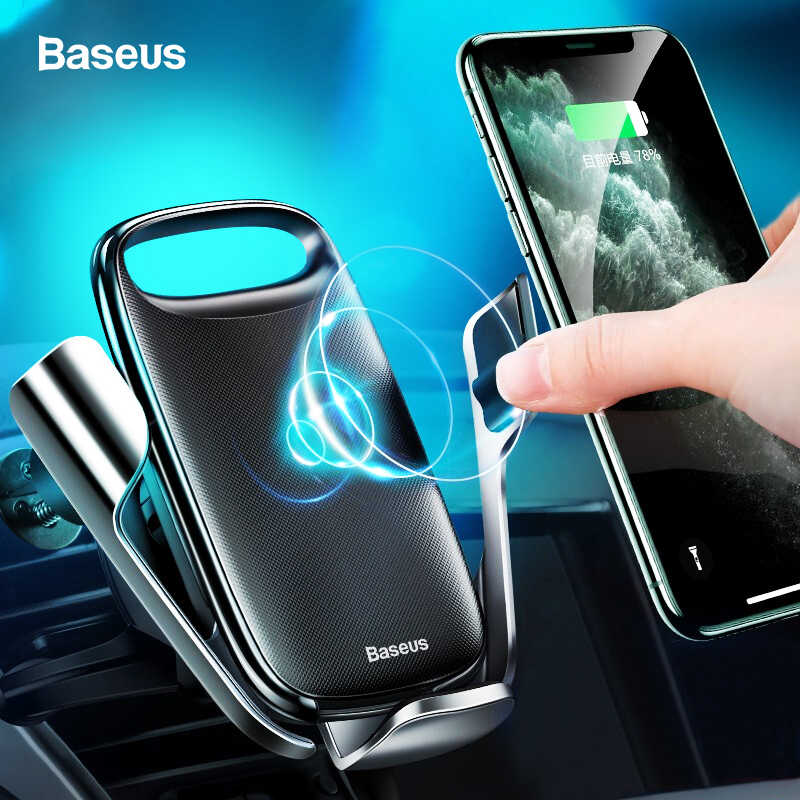 BASEUS 15W Qi Wireless Car Charger สำหรับ iPhone 11 Fast รถไร้สายชาร์จสำหรับ Samsung S20 Xiao Mi mi 9 Induction Charger
