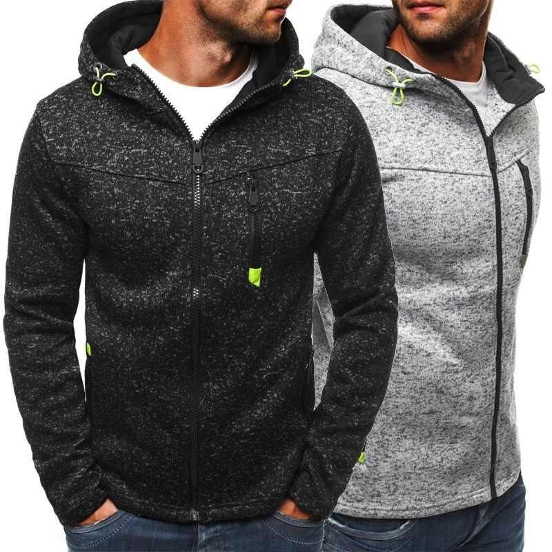Kurtka męska bluzy niestandardowy wydruk Logo męskie streetwear polarowe bluzy z zamkiem męskie dresy