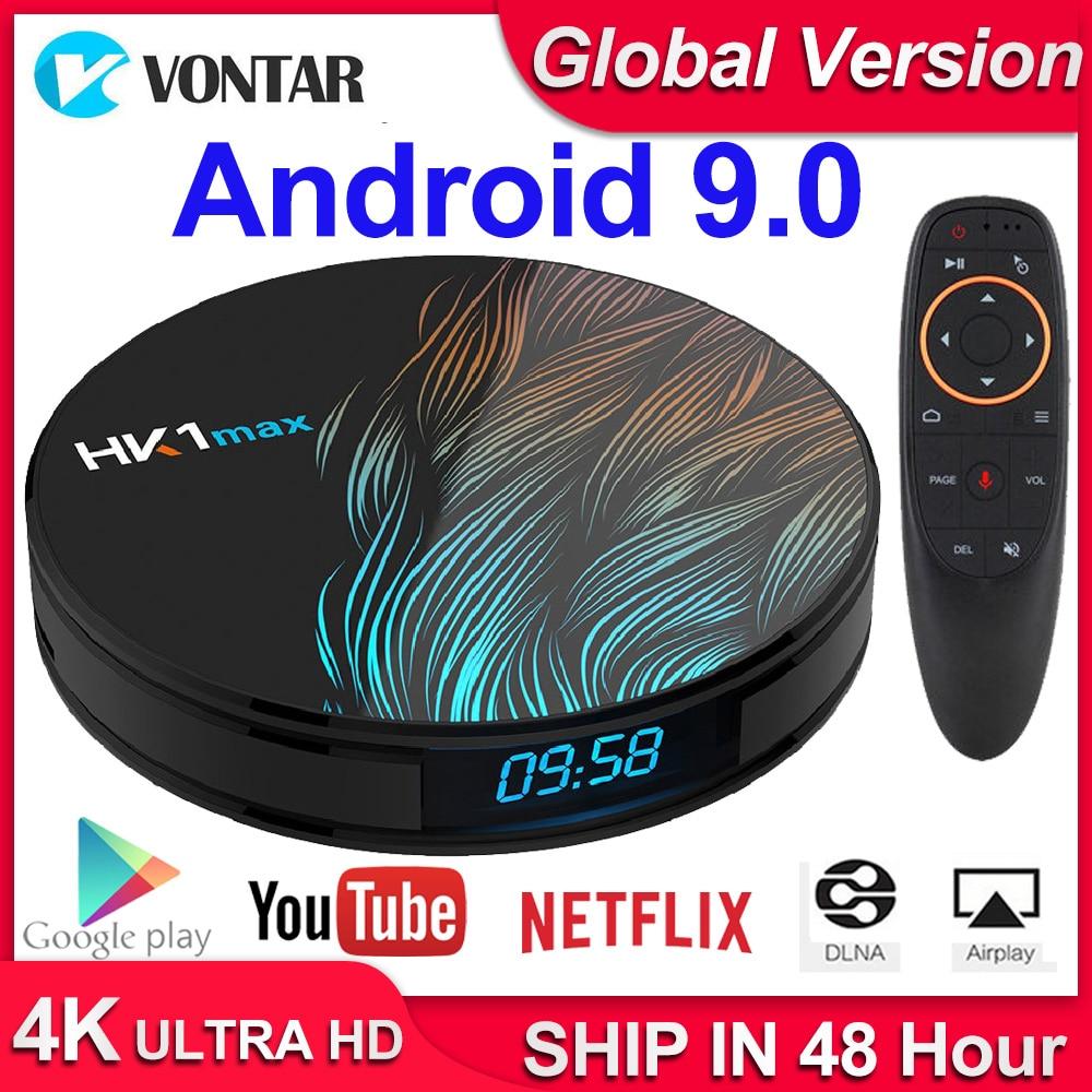 HK1 Max Android 9.0 Smart TV Box Set Top Box 4GB RAM 64GB 128GB 4K Youtube H.265 BT4.0 Google Play Store Netflix Android Box