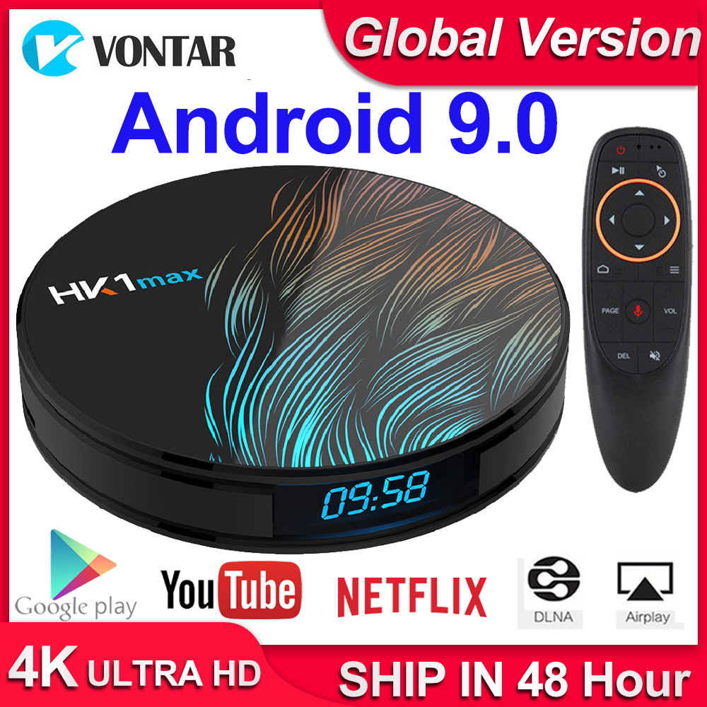 HK1 Max Android 9.0 Smart TV Box Set Top Box 4GB RAM 64GB 128GB 4K Youtube H.265 BT4.0 Google Play Store Netflix Android Box