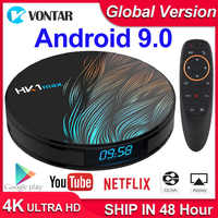 HK1 Max Android TV Box Android 9.0 RK3318 Smart TV Box 4GB RAM 64 GB/128 GB Youtube 4K H.265 BT4.0 Play store Netflix lecteur multimédia