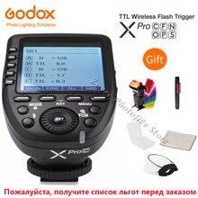 جهاز إرسال لاسلكي فلاش من Godox Xpro Xpro C/N/O/S/F/P 2.4G TTL جهاز إرسال الزناد X نظام HSS 1/8000s لكانون نيكون سوني أوليمبوس فوجي