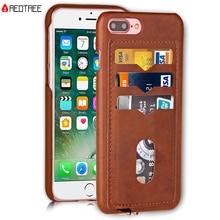 Противоударный чехол для телефона s для iPhone 5, 5S, SE, 6, 6 S, 7, 8 Plus, X, 10, кожаный держатель для карт, гибридный, полный защитный чехол для iPhone 7, противоударный