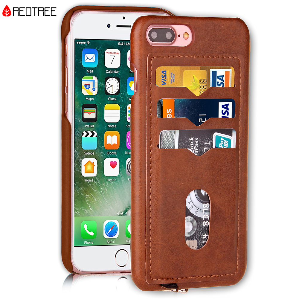 Shockproof Phone Cases for <font><b>iPhone</b></font> 5 5S SE <font><b>6</b></font> 6S 7 8 Plus X 10 <font><b>leather</b></font> card holder Hybrid Full Protect Case for <font><b>iPhone</b></font> 7 AntiKnock image