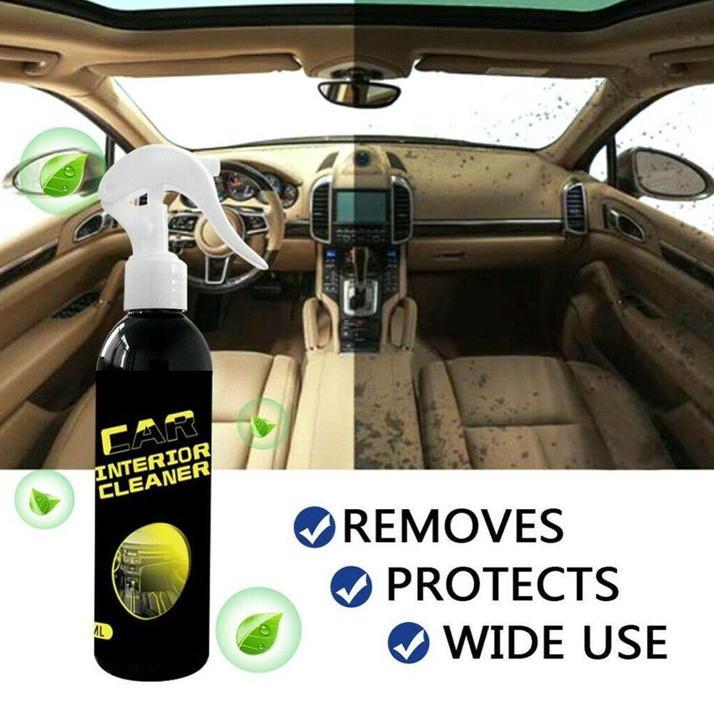 Universal 100ml Car Interior Cleaner Power Clean Car Interior Rinse-Free Cleaner Multi-function Cleaning Spray Film Remover