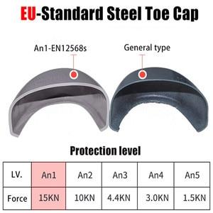 Image 5 - ความปลอดภัยรองเท้า STEEL TOE CAP รองเท้า Trekking รองเท้าผ้าใบรองเท้าผู้ชายน้ำหนักเบาทำงานรองเท้าทำลายรองเท้า