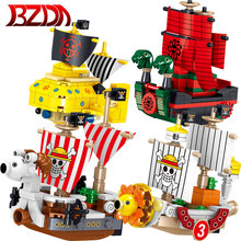 Boy Toys Model-Bricks Pirate Polar-Dive BZDA One-Piece Building-Blocks Boat Christmas-Gifts