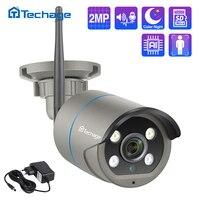 Techage 1080P 2MP Drahtlose Kamera Sicherheit Audio Wifi IP Kamera IR Im Freien Wasserdichte P2P TF Karte CCTV Video Überwachung