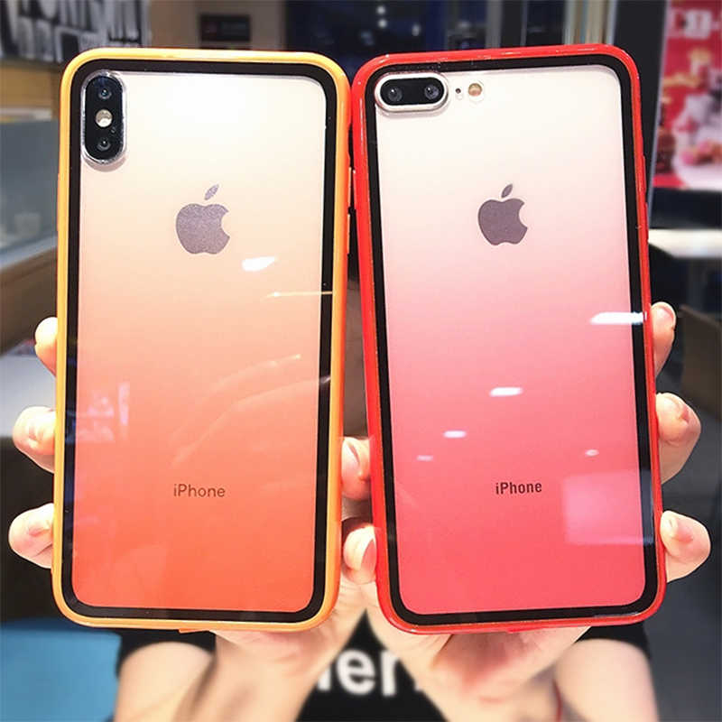 Lovebay Transparante Gradient Telefoon Gevallen voor iPhone 11Pro XS Max XR X Acryl Candy Cover voor iPhone 11 7 8 6 6S Plus Back Cover