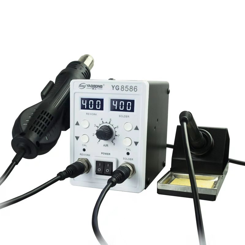 2 In 1 Hot Air Rework Station And Soldering Iron Station  Digital Temperature Correction And Sleep Function Soldering Station