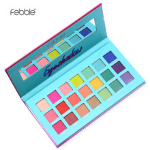 Febble Brand 21 colors eye shadow palette Colorful matte and shimmer powder 9 co