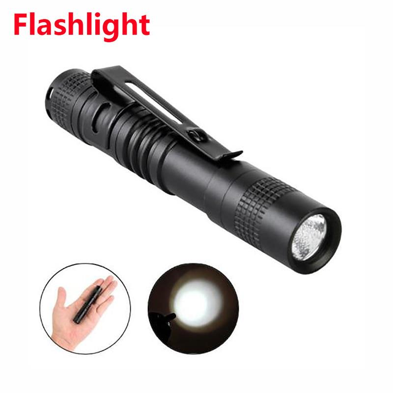 Portable Torch Clip Hiking Outdoor Sporting Camping Mini Flashlight LED Flashlight 3W Black Cycling Tactical Military Climbing