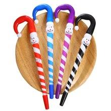 2pcs/lot Cartoon Umbrella Funny Ballpoint Pen Clown Christmas Snowman Hat School Office Supplies