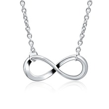 Exquisite Charm Fashion Infinity Lucky 8 Number Pendant Necklace Collare For Women  Clavicle Party Jewelry