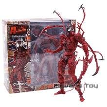 Marvel Revoltech Series NO.008 Carnage Deadpool Spiderman Gwen Stacy Venom Wolverine Magneto Captain America Action Figure Toy