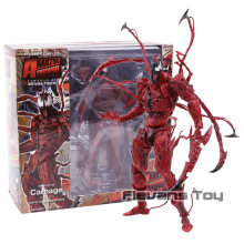 Marvel Revoltech Serie NO.008 Carnage Deadpool Spiderman Gwen Stacy Venom Wolverine Magneto Captain America Action Figure Speelgoed(China)